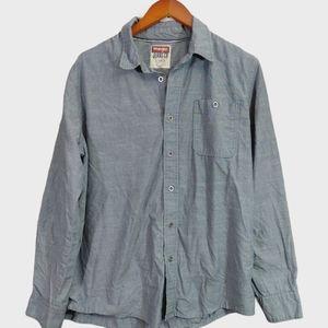 Wrangler Gray Casual Button Down Shirt-Large
